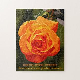 Trois trésors de puzzle de fleur de Taoism