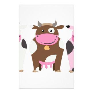 Trois vaches papiers à lettres