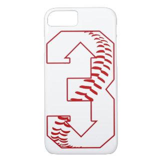 Trois, vers le bas base-ball trois indiquant la coque iPhone 8/7