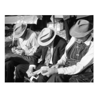 Trois vieux hommes carte postale