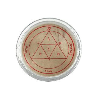Troisième pentagramme de Mars Bague Avec Photo
