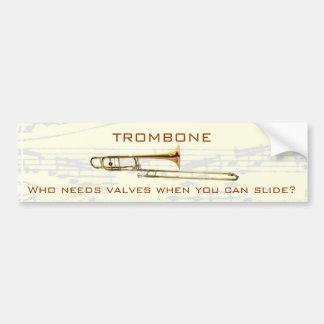Trombone :  Qui a besoin de valves ?  Adhésif pour Autocollant De Voiture