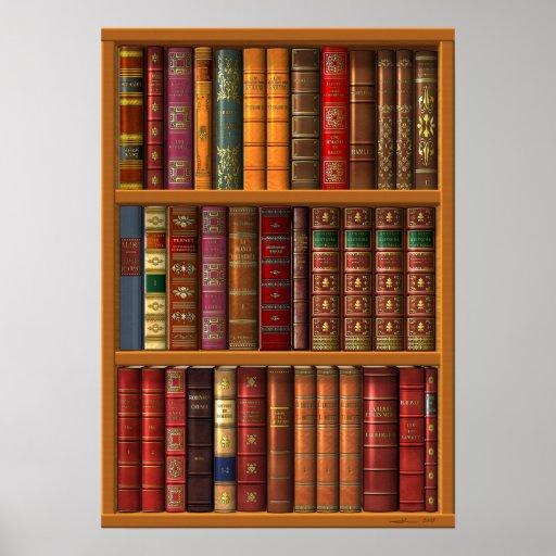 trompe l 39 oeil biblioth que fran aise posters zazzle. Black Bedroom Furniture Sets. Home Design Ideas