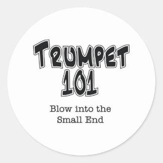 Trompette 101 sticker rond