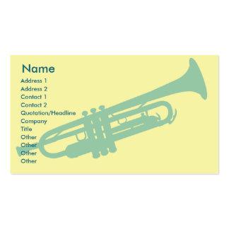 Trompette - affaires carte de visite standard