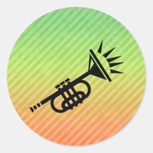 Trompette Adhésifs Ronds