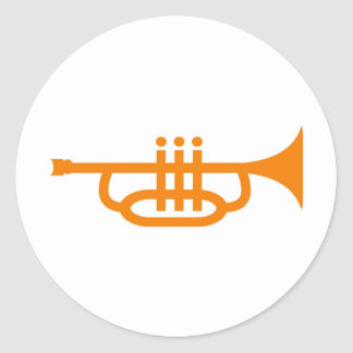 trompette adhésif rond