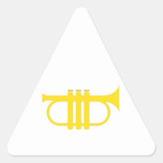 Trompette Autocollant En Triangle