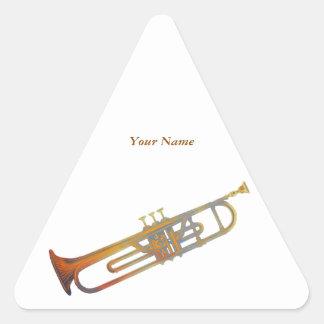 Trompette Stickers En Triangle
