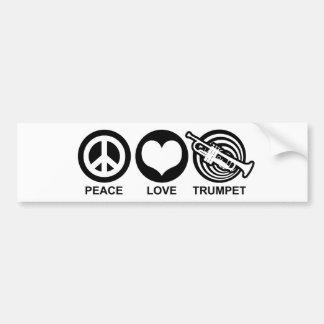 Trompette d'amour de paix autocollant de voiture