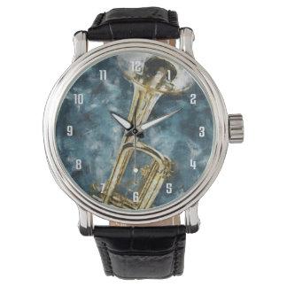Trompette de bleus montres bracelet