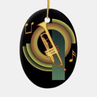 Trompette de Deco Ornement Ovale En Céramique