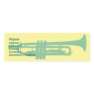 Trompette - maigre carte de visite petit format