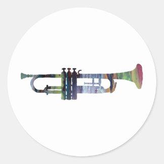 Trompette Sticker Rond