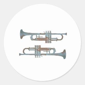 Trompettes Sticker Rond