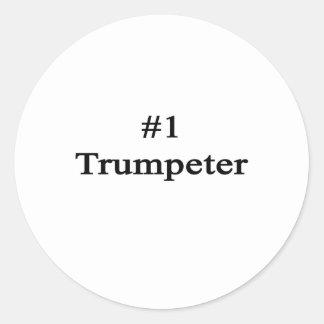 Trompettiste du numéro 1 autocollants ronds