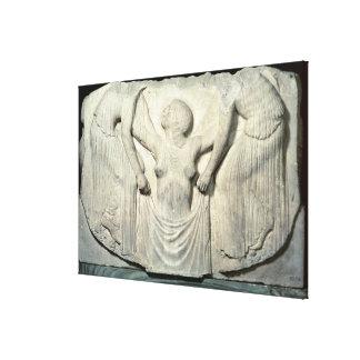 Trône de Ludovisi, détail montrant la naissance de Toiles Tendues
