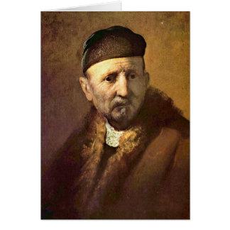 �Tronie� d'un vieil homme par Rembrandt Cartes