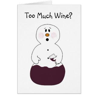 Trop de carte de Noël de vin