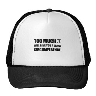 Trop de circonférence de symbole de pi casquettes
