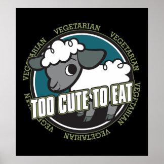 Trop mignon pour manger des moutons posters
