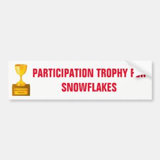 Trophée de participation pour l'adhésif pour autocollant pour voiture