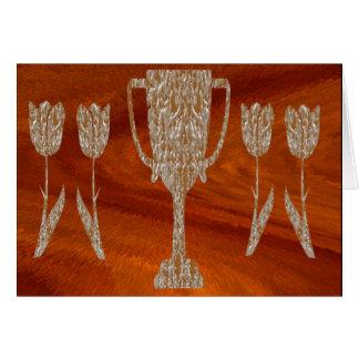 TROPHÉE d'or : Célébration de récompense de récomp Carte