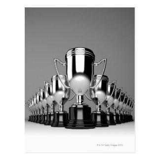 Trophys argenté 2 cartes postales
