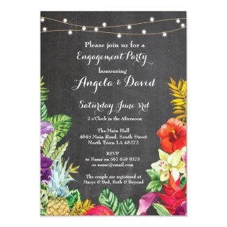 Tropical Aloha épousant l'invitation floral de Carton D'invitation 12,7 Cm X 17,78 Cm