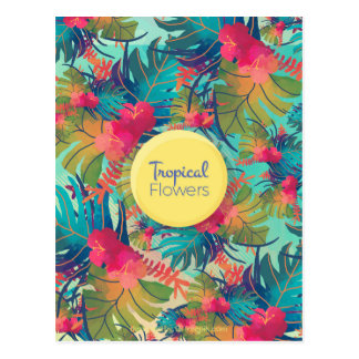Tropical flowers cartes postales