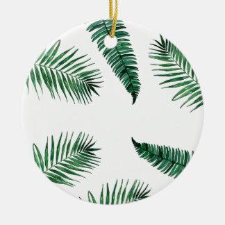tropical ornement rond en céramique
