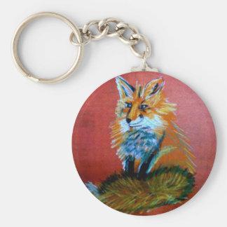 Trot de Fox Porte-clé Rond