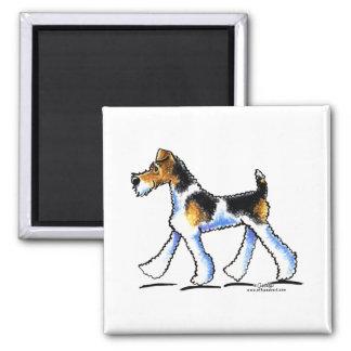 Trot de Fox Terrier de fil Magnet Carré