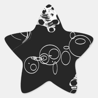 Trou dans un sticker étoile