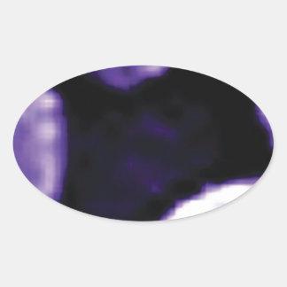 trou pourpre des anneaux sticker ovale