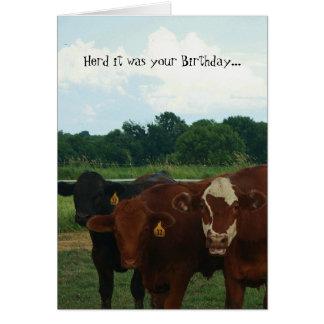 Troupeau c'était votre carte de vache à