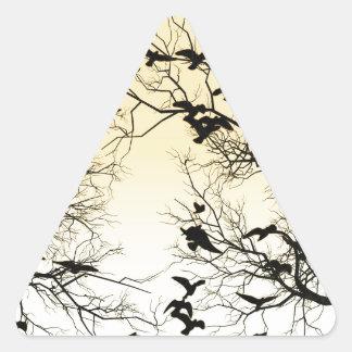 Troupeau de corneille sticker triangulaire
