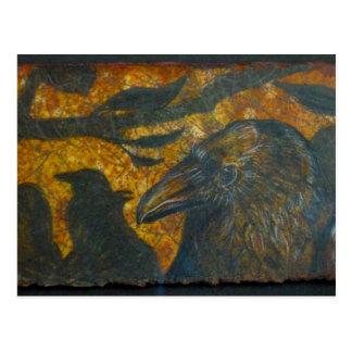 Troupeau de Raven Carte Postale