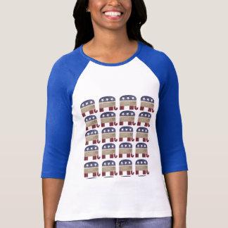 Troupeau de républicain drôle de GOP d'éléphants T-shirt