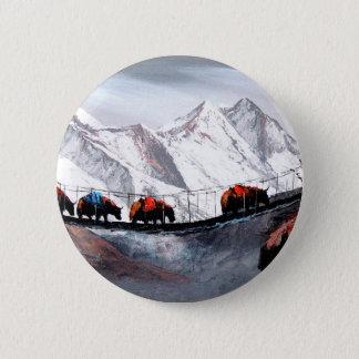 Troupeau de yaks Himalaya de montagne Pin's