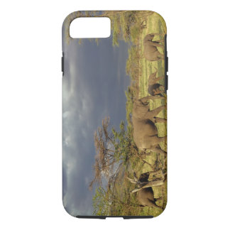 Troupeau d'éléphant africain, africana de coque iPhone 7