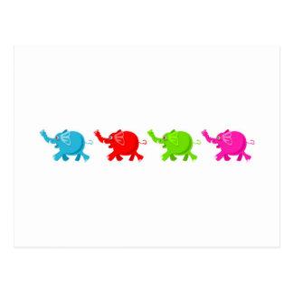 Troupeau d'éléphants cartes postales