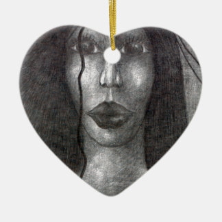 Troupeau Ornement Cœur En Céramique
