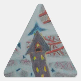 Trous bleus sticker triangulaire