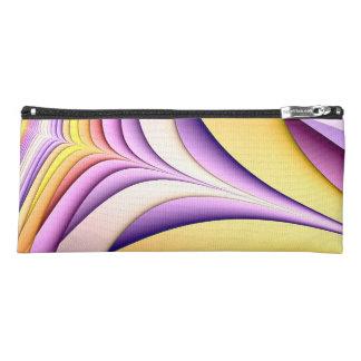 Trousse Fractale colorée par pastel. Jaune, rose, pourpre