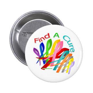 Trouvez les rubans colorés d'un Cancer de traiteme Badge Rond 5 Cm
