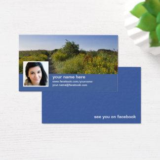 Trouvez-moi sur le carte de visite du facebook