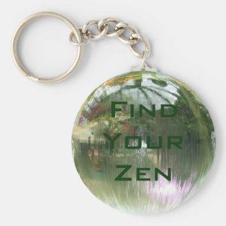 Trouvez votre porte - clé de zen porte-clé rond