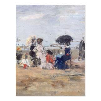 Trouville Scène de plage - Eugène Boudin Carte Postale