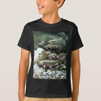 Truite foncée de T-shirt d'enfants